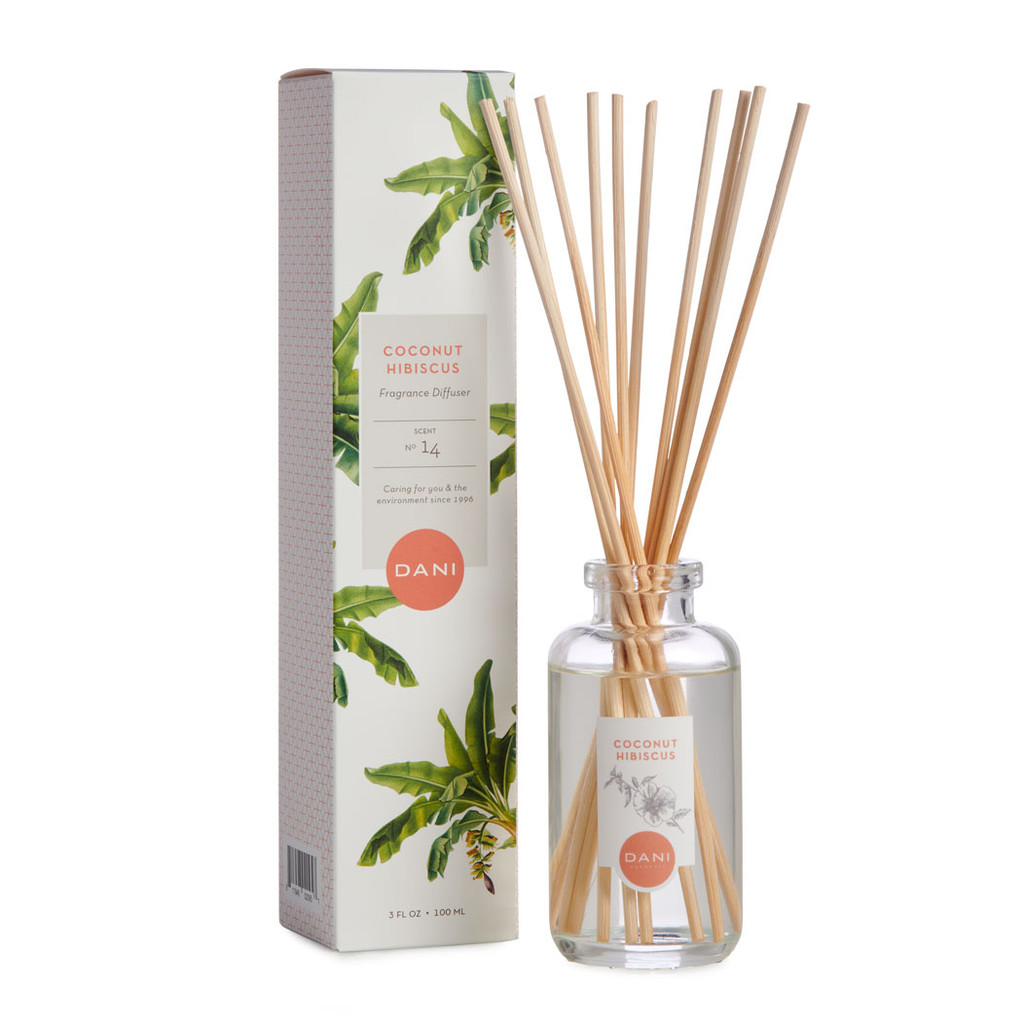 Coconut Hibiscus Reed Diffuser by DANI Naturals