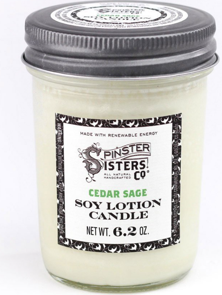 Soy Lotion Candle - Cedar and Sage