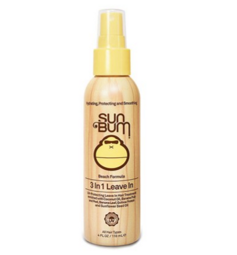 Sun Bum Leave-in Hair Conditioner detangles, conditions, and give SPF UV sun protection