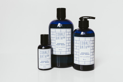 Cobalt Bath Organic Body Wash. Available in 3 sizes.