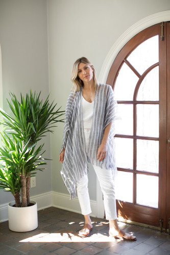 The Linen Wrap - Mer-Sea & Co - Striped Navy