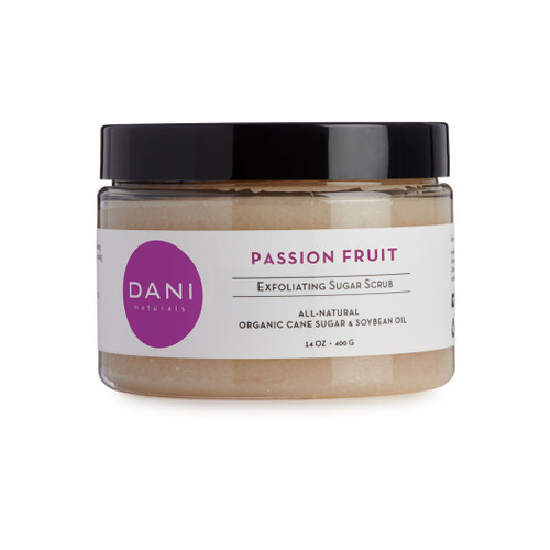 Passion Fruit Body Scrub with Organic Sugar by DANI Naturals