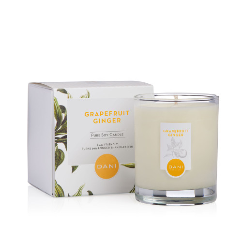 Grapefruit Ginger Scented Soy Candle by DANI Naturals