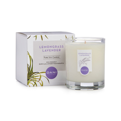 Lavender Lemongrass Soy Candle by DANI Naturals