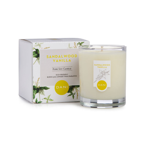 Sandalwood Vanilla Scented Soy Candle by DANI Naturals