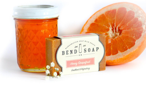 Honey Grapefruit Goat Milk Soap by Bend Soap Company