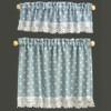 Blue Nursery Hearts Curtains