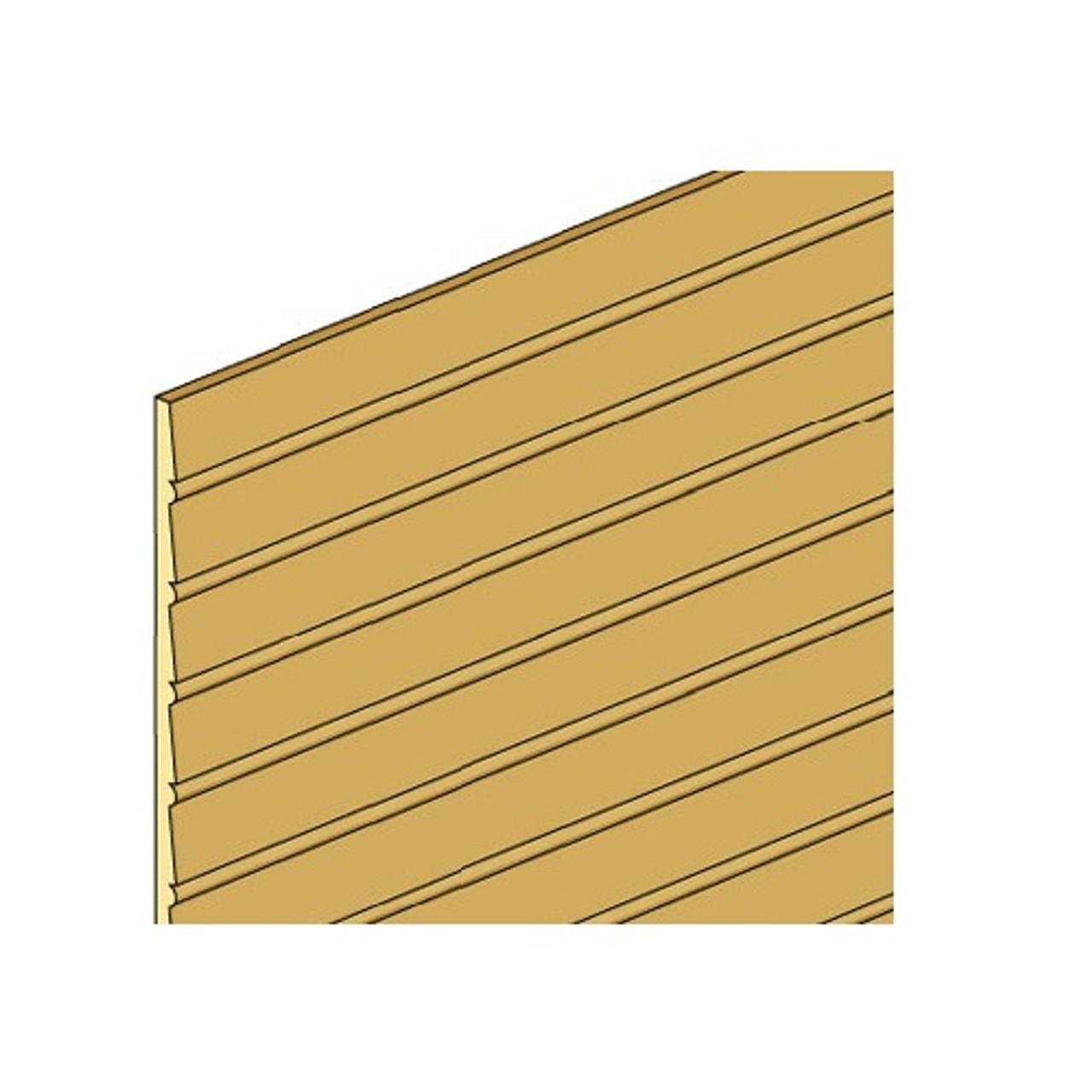 Illustration of NE387 beaded clapboard sheet