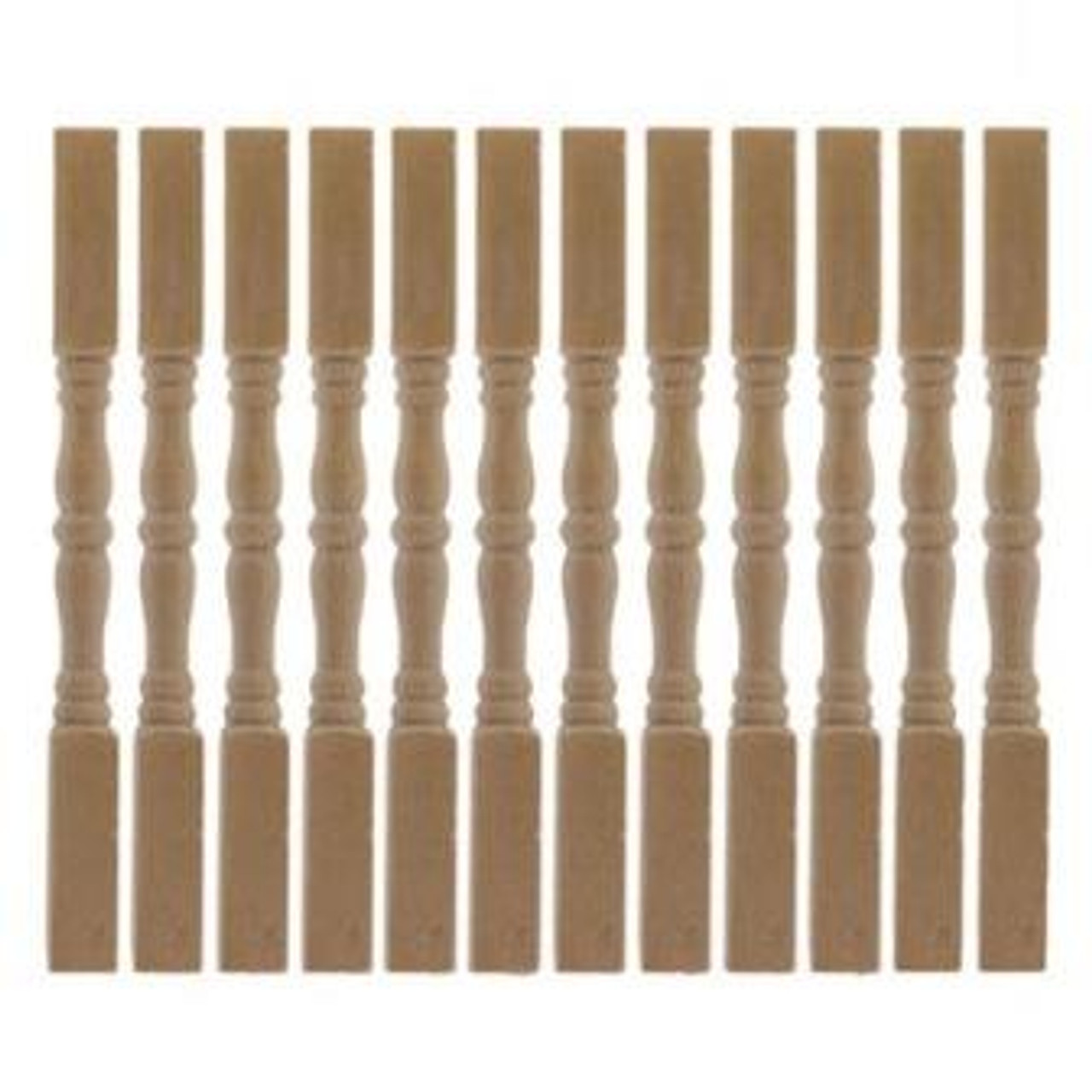 One-inch (1:12) Scale Dollhouse Miniature Balusters, 12/package (CLA70209)