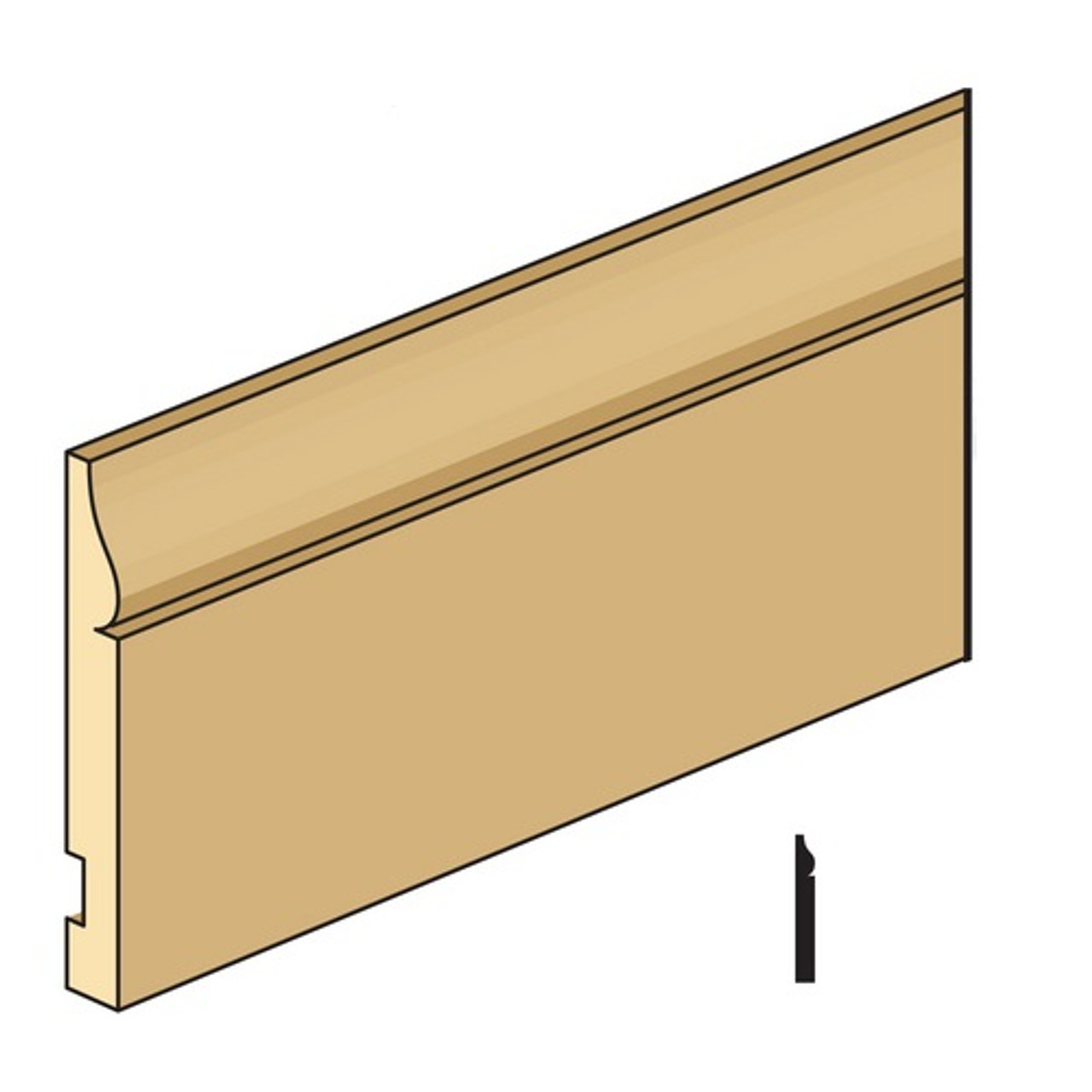 BBA-8 half-inch scale baseboard (CLA77939)
