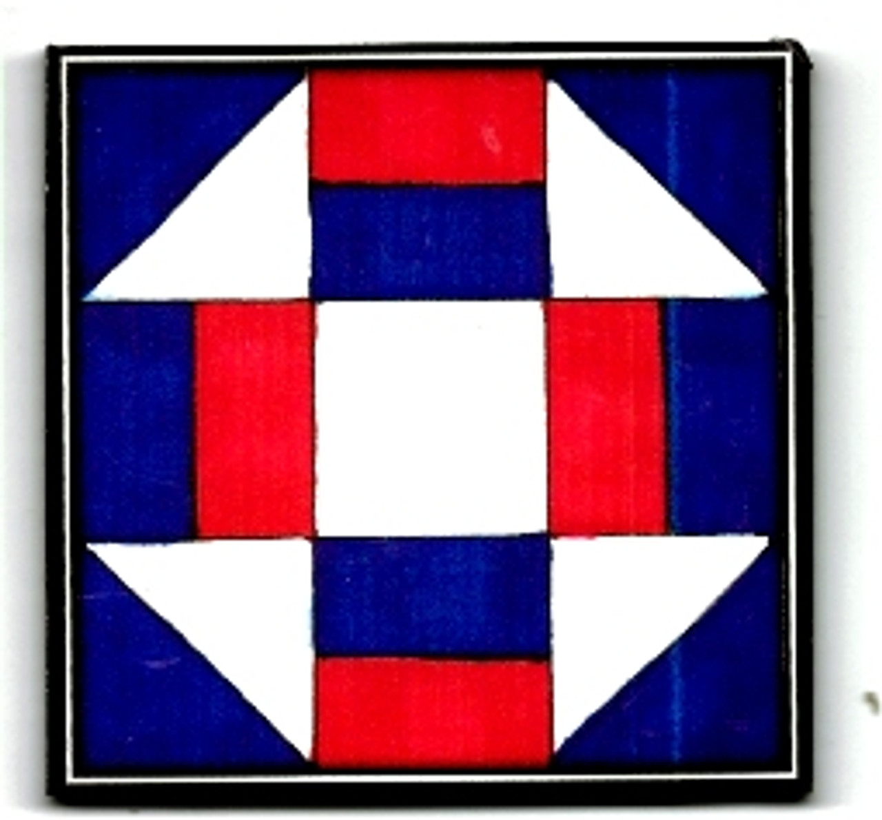 Red, white and blue, miniature, wooden barn quilt