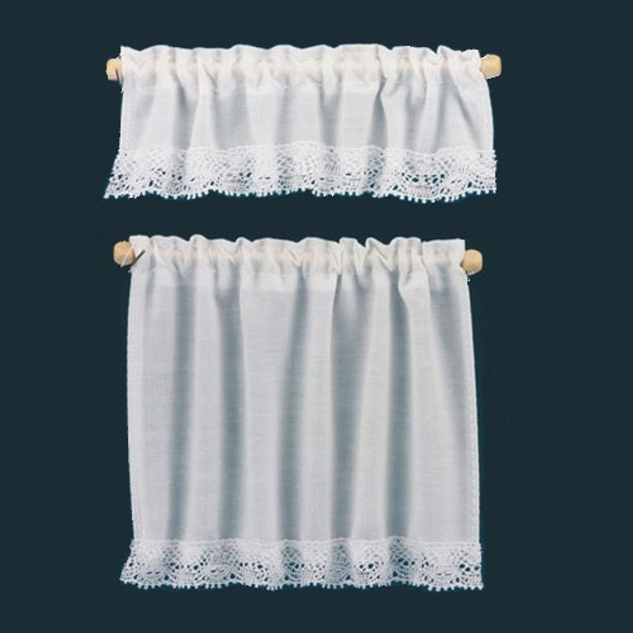White Cottage Curtains (BB50402)