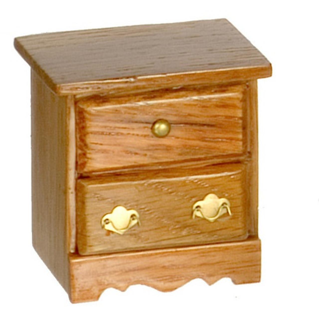 Dollhouse Miniature Dark Oak Night Stand (AZT4468)