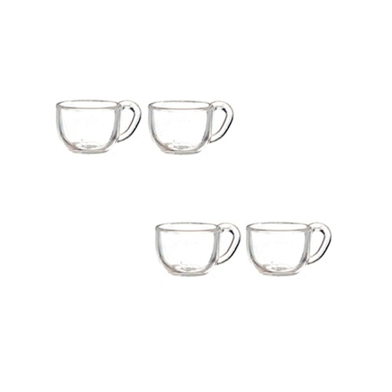 Dollhouse Miniature Wide Tea/Coffee Cups Set (AZG7318)