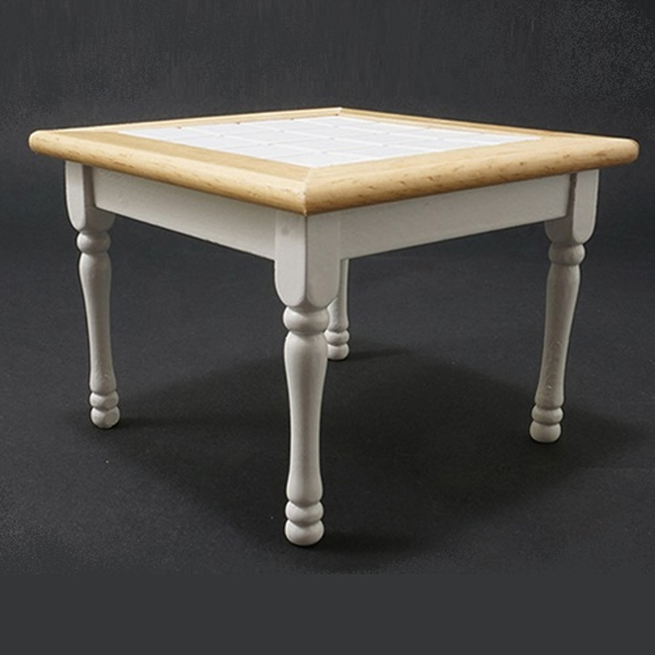 Table, Oak and White (CLA10218); side angled