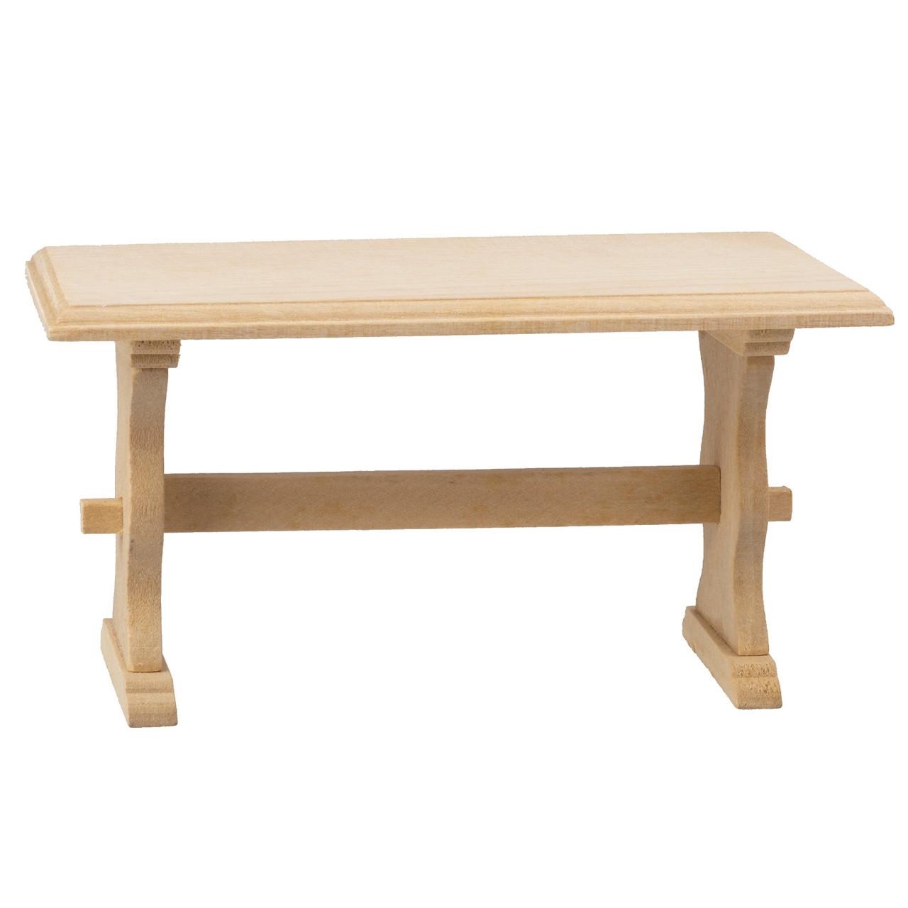 Trestle Table, Unfinished Wood (AZB6712)