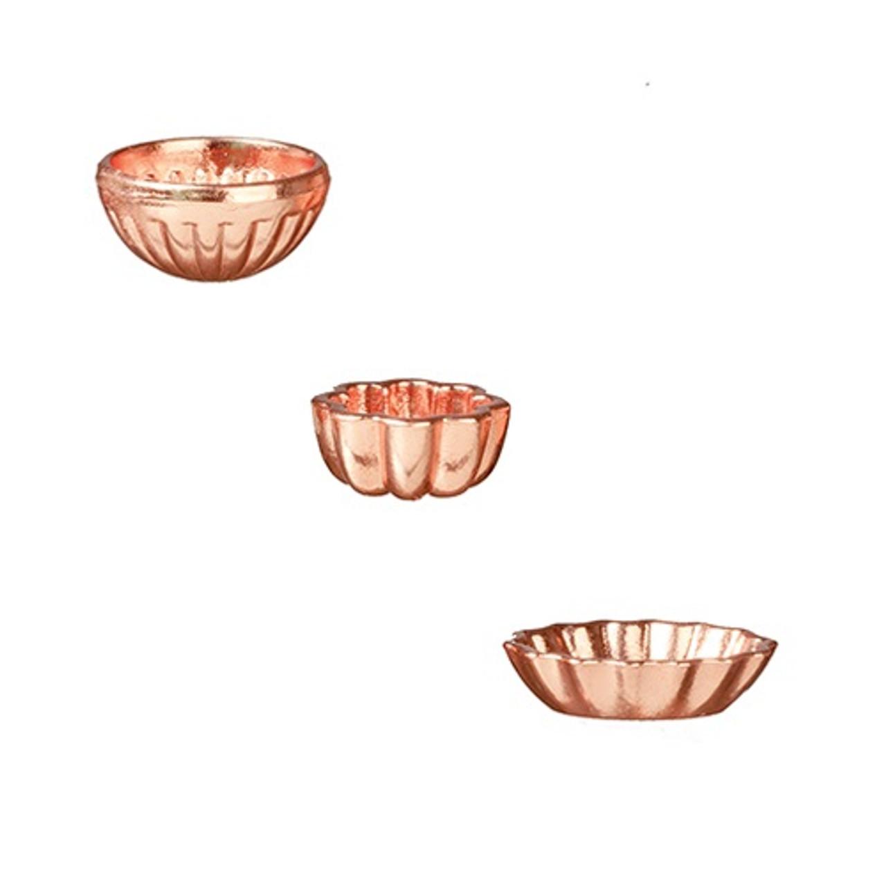 Small Bundt Pans, Copper, 3 Pieces (AZB0334)