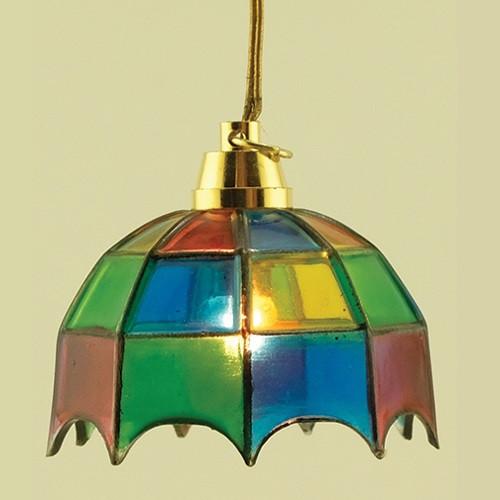 Tiffany Hanging Lamp (MH601) lit