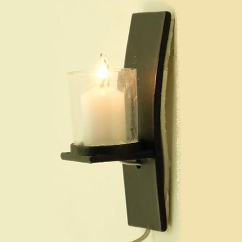 Modern Black Wall Sconce (MH1052) lit
