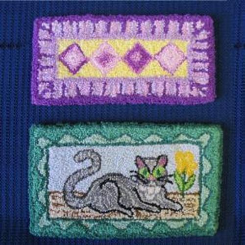 Cat Rug Patterns (BNAMR12-C); shown completed