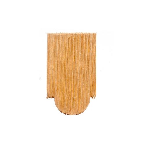 Photograph of single rounded tab cedar shingle