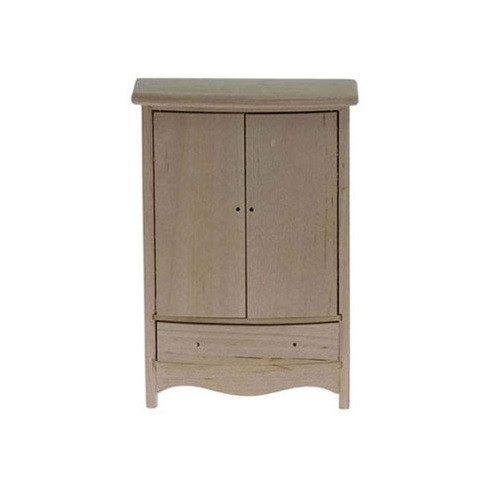Unfinished armoire shown without hardware (included)