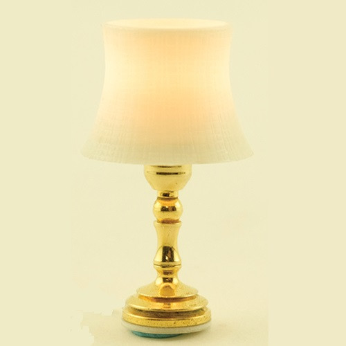 Beveled Shade Table Lamp (MH757) lit