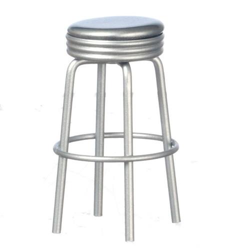 Miniature silver bar stool