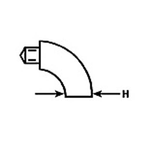 Enlarged illustration of 90 degree female elbow