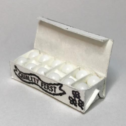 White egg carton, open