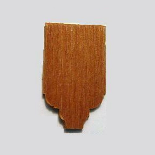 Photograph of a single classical cedar shingle.