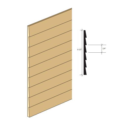 "1/4"" lap spacing miniature clapboard siding illustration"