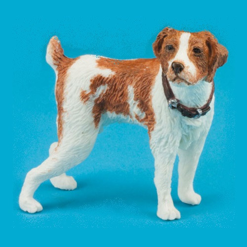 One-inch (1:12) scale standing Jack Russell Terrier dog