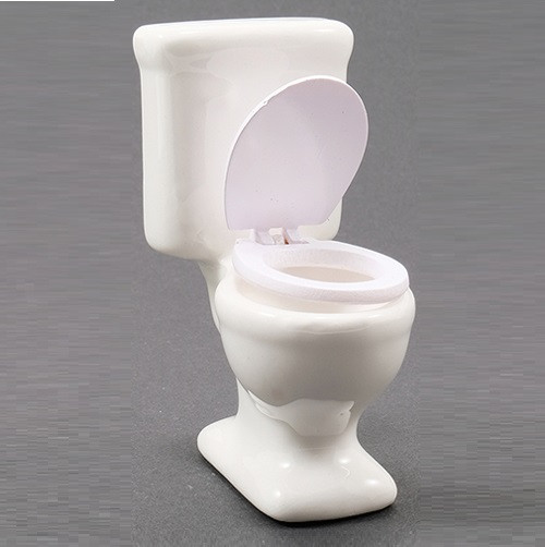 White Toilet (CLA10551); shown with lid up