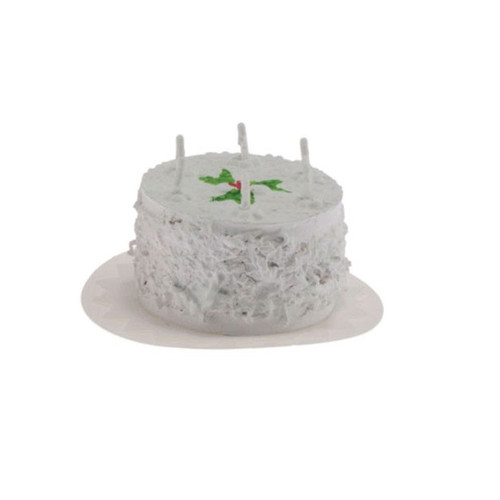 Dollhouse miniature birthday cake