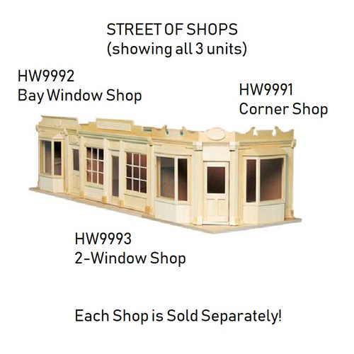 Image shows all three available shops together (each unit is sold separately)