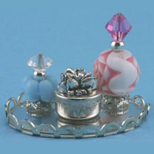 Perfume Tray with 2 Bottles & Powder Box (CB118)
