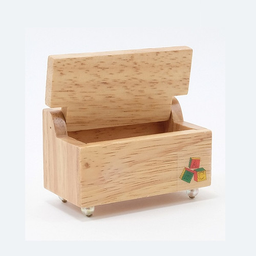 Toy Chest, Oak (CLA10371) Opened