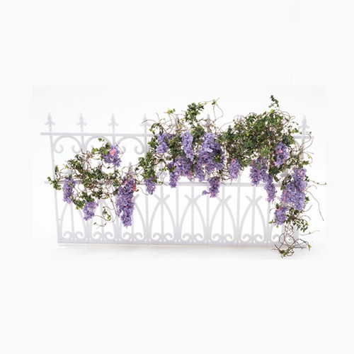 Wisteria Vine (CAWSM) shown installed on ornate (plastic) fencing from Iron Works.  Fencing is sold separately.