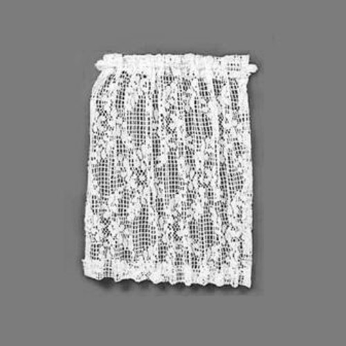 Sheer Flowered Lace Drapery