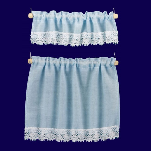Blue Cottage Curtains (BB50403)