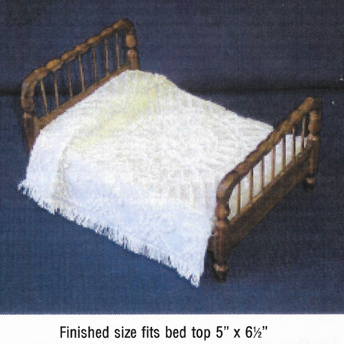 Medallion Chenille Bedspread Pattern (BNAMCH-M); shown completed, bed sold separately