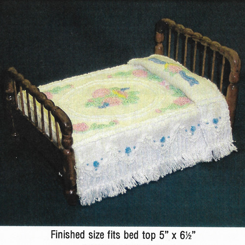 Colonial Chenille Bedspread Pattern (BNAMCH-C); shown completed