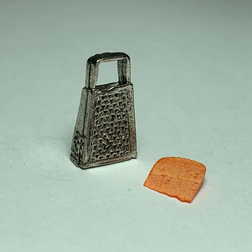 Dollhouse Miniature Cheese Wedge with Grater (CAR1196AP)