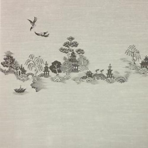 China Grove Mural Wallpaper (MG191D24) shown in black