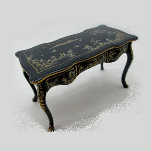 Three Drawer Desk/Black (JJ31009BBS); top view