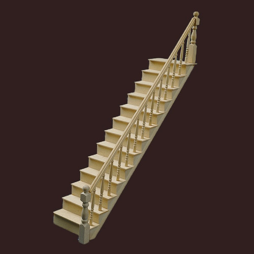 Staircase Kit (CLA77000); shown assembled, unfinished