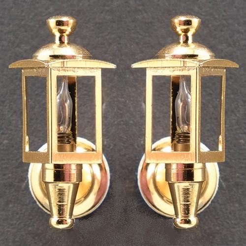 Brass Coach Lamps, Pair (MH760); unlit