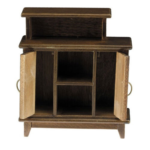 Bar Stand, Walnut (CLA10921); shown with doors open