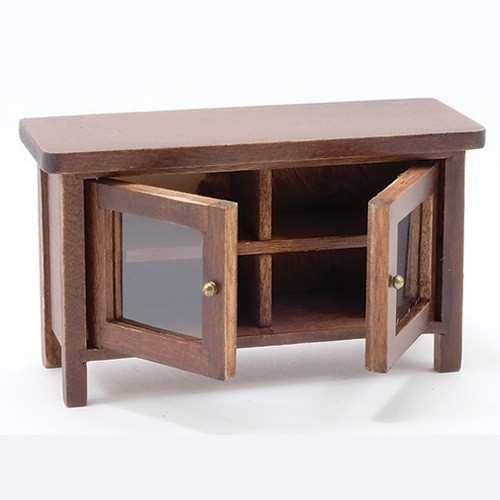 Television Stand, Walnut (CLA10919); doors open